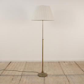 Antique Brass, ADjustable Telescopic Standard Lamp