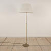 Antique Brass, Adjustable Telescopic Standard Lamp. (Y)