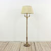 Brass Circular Based 3 Arm Standard Lamp  (Y)