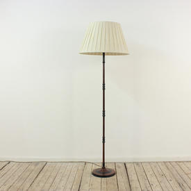 Mottled And Black Finish Metal Pencil Thin Standard Lamp