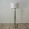 Polished Nickel Art Deco Standard Lamp With Fine Fluted Column & Finial (Y)