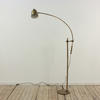 Brass Floor Standing Reading Lamp With Large Sweeping Adjustable Arm (Y)