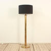 Antique Brass Fluted Column Deco Style Standard Lamp, With Harp & Bullet Finial (Y)
