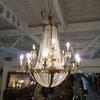 Extra Large 2 Tier Crystal & Brass 18 Light Chandelier  (Y)