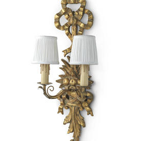Carved Gilded Double Wall Light