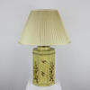 Yellow Octagonal Oriental Painted Table Lamp  (Y)