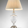 Cut Glass Lamp With Gilt Bases, Ribbed Pattern