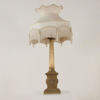Gilt Face Decorated Pedestal Base & Ribbed Column Table Lamp  (Y)