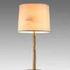 "2'9"" Antique Brass Figured Column Table Lamp On Circ. Base With Brass Finial (Y)"