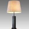 Bronze Clad, Fine Ribbed Mahogany Box Table Lamp. (Y)