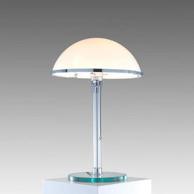 Crystal Column Lamp With Circ Crystal Base, With Opaque Glasss Dome Shade