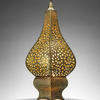 Moroccan Style Pierced Brass Pointed Table Lamp