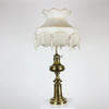 Brass Turned Base Lamp With Lantern Style Top.