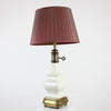 Brass Sq Base, Cream Painted, Bottle Shape Table Lamp. (Y)