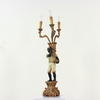 Painted 4 Light Blackamoor Table Lamp  (Y)