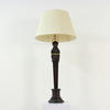 "Brown & Gilt Painted DéCor. 30"" Face Table Lamps"