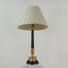 Black & Gilt 3 Legged Based Ribbed Table Lamp