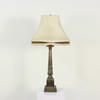 Brass Pedestal Based Column Table Lamps
