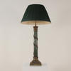 Green And Brass Vine Column Table Lamp  (Y)