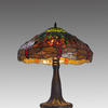 Tiffany Style Table Lamp With Green Dragonfly Shade (Y)
