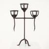 "20"" Cast Triple Basket Topped Candle Holder On Tri Legs  (Y)"