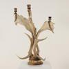Horn Triple Candelabra  (Y)