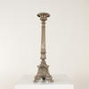 Bronze Square Base Twisted Column Candlestick With Gallery Top (Y)