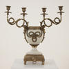Off White Ceramic & Brass Decor 4 Light Candelabra  (Y)