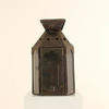 "19"" Star Patterned Rusted Metal Wall Lantern  (Y)"