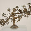 Brass 6 Light Candelabra Decorated With Flower And Grapes  (Y)