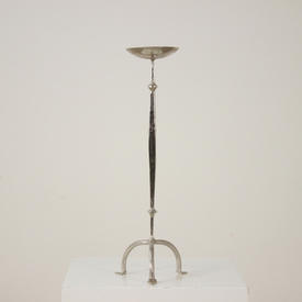 Silver Tripod Legged Single Candlestick