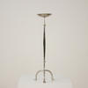 Silver Tripod Legged Single Candlestick  (Y)