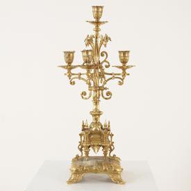 Brass 50 Cm 5 Light Candelabra  (Y)