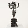 Six Way Candelabra On Black Plinth Base  (Y)