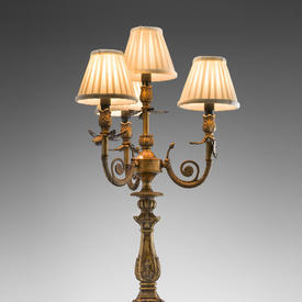 Antique Bronze 4 Light Candelabra Table Lamp