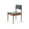 Teak & Green Seat Single Dining Chair