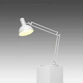 White ''Arki'' Anglepoise Desk Lamp with Domed Shade
