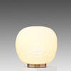 Large White Glass Erbse Table Lamp