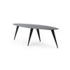 Black Steele Oval Coffee Table