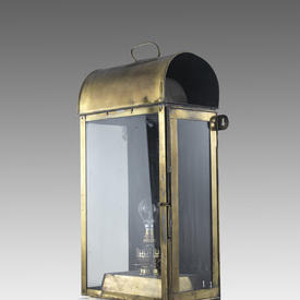 2' Brass Wall Lantern with Glass And A Dome Top