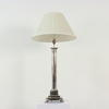 Chrome Column Stepped Sq Base Deco Style Lamp  (Y)