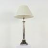 Chrome Column Stepped Sq Base Deco Style Lamp