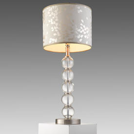 Clear Glass & Ali 5 Ball Table Lamp on Brushed Ali Base (Shade Not included)