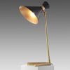 Gold Base ''Peggy'' Table Lamp with Black Shade