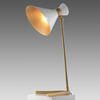Gold Base ''Peggy'' Table Lamp with White Shade
