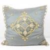 Grey Net And Velvet Embroidered Bed Cushion  (Y)