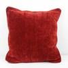 40cm X 40cm Red Chenille Cushion  (Y)