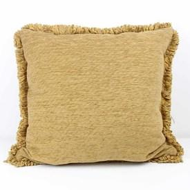 """21"""" Square Gold Cord Cushions  (Y)"""