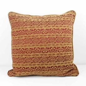 Red And Gold Damask Pattern Cushion