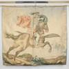 "4' X 4'6"" Faded Wall Hanging Of 'perseus & Andromeda' (140cm X 130cm) (Y)"